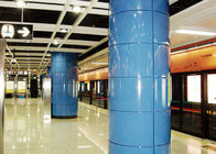 Red / Blue Aluminum Metal Ceiling , Aluminum Wall Cladding Panel System For Train Station