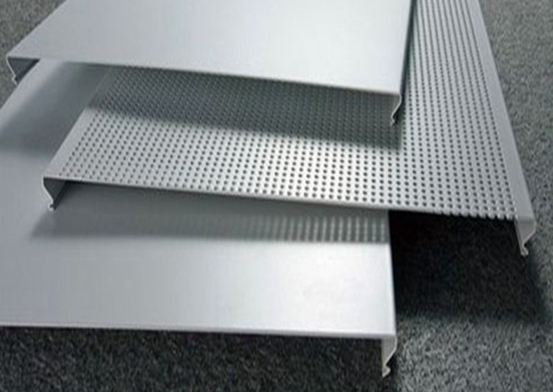 C100 Bevelled Edges Perforated Aluminum Ceiling Panels RAL Colors